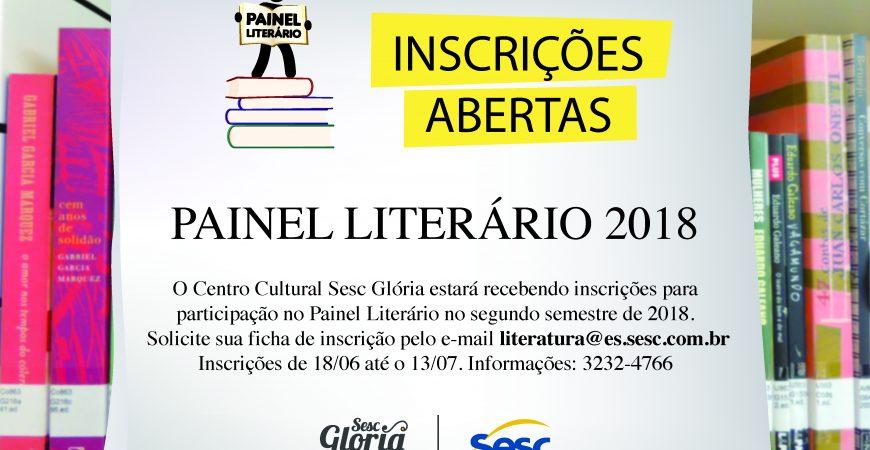Inscrições abertas para o Painel Literário Sesc