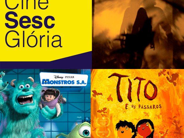 Duas produções nacionais e uma animação estão em cartaz no CineSesc Glória neste mês
