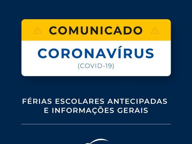 Comunicado Coronavírus   Escola Sesc