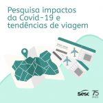 """Pesquisa """"Impacto da Covid-19 e tendências de viagem"""""""